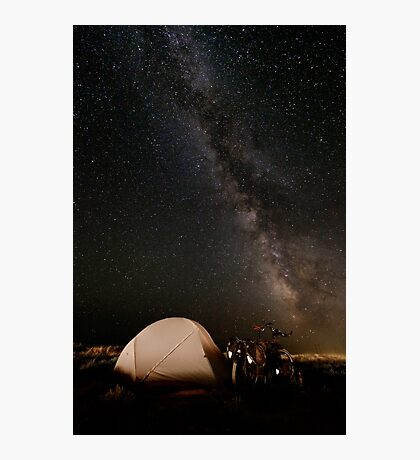Camping lacté Photographic Print