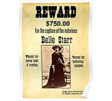 Belle Starr Wanted Poster Poster