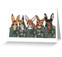 Donkey five Greeting Card