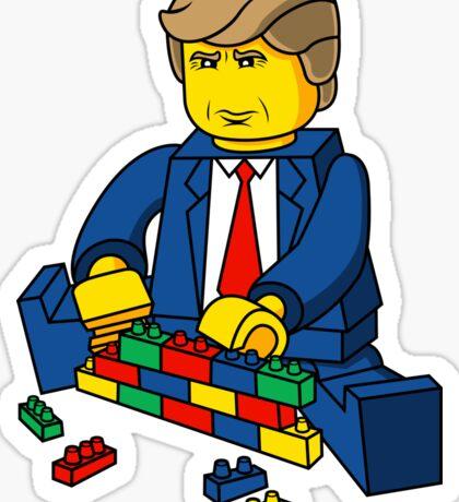 Build A Wall Trump 2016 Sticker