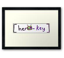hero-key Framed Print