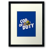 Cod Of Duty Framed Print
