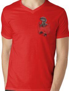 Pocket Protector - Blue Mens V-Neck T-Shirt