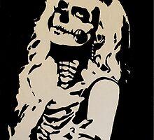Skull Girl by DavidZambeckArt