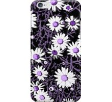 White Daisies - Purple Centers iPhone Case/Skin