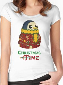 Christmas Gunter - Adventure Time  Women's Fitted Scoop T-Shirt