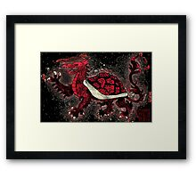 The Red Turtle Dragon Framed Print