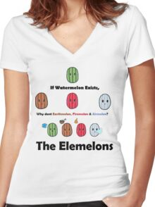 The Elemelons Women's Fitted V-Neck T-Shirt