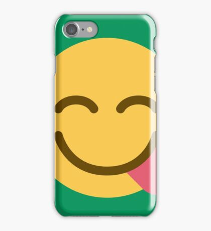 Face savouring delicious food iPhone Case/Skin