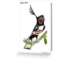 Black Baza Caricature Greeting Card