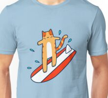 Surfing Tabby Cat Unisex T-Shirt