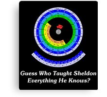 Guess Who Taught Sheldon Everything He Knows?  Canvas Print