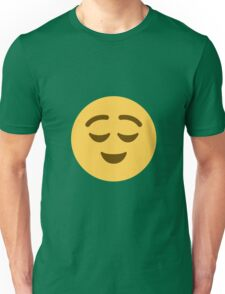 Relieved face Unisex T-Shirt
