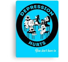Depression Hurts Canvas Print