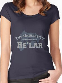 THE UNIVERSITY: RE'LAR Women's Fitted Scoop T-Shirt
