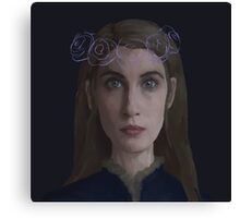 Lyanna Stark Crown of Roses Canvas Print