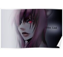 Lovely Red Eyes Poster
