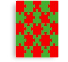 Red and Green Puzzle Canvas Print