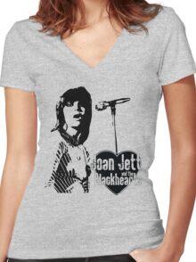 Joan Jett Women's Fitted V-Neck T-Shirt
