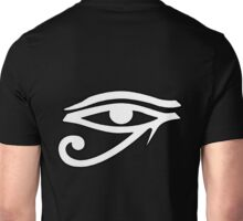 Evil Eye, All Seeing Eye, Eye of Horus, Anti Christ, Udjat, Devil's eye, Satan's eye, Eye of Providence, all seeing eye of God, White Unisex T-Shirt