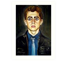 Head of a Boy in a Leather Jacket Art Print