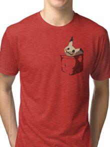 Mimikyu Shirt Pocket Tri-blend T-Shirt
