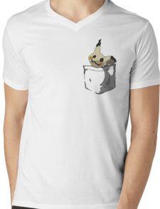 Mimikyu Shirt Pocket Mens V-Neck T-Shirt
