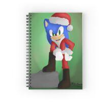 Santa Sonic Spiral Notebook