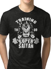 Training To Go Super Saiyan (Vegeta) Tri-blend T-Shirt