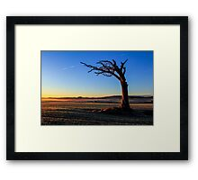 A Tree, Taking A Bough. Framed Print