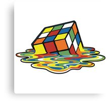 Melted Rubik's Cube Canvas Print
