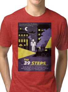 North Central Theatre presents THE 39 STEPS by Simon Corble & Nobby Dimon Tri-blend T-Shirt