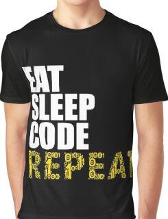 EAT SLEEP CODE REPEAT Computer Science Nerd Geek T-Shirt Graphic T-Shirt