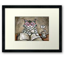 One Smart Kitty Framed Print