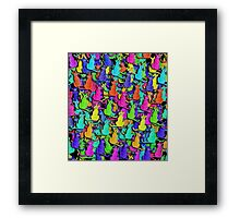 Colorful cats Framed Print