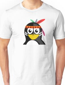 Penguin as Native American  Unisex T-Shirt