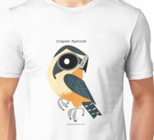 Collared Falconet caricature Unisex T-Shirt