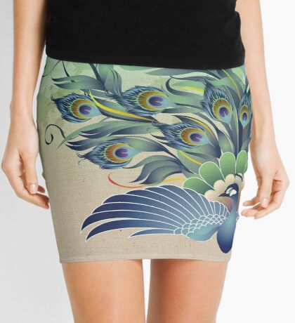 Peacock Mini Skirt