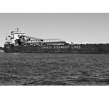 Canada Steamship Lines BW Photographic Print