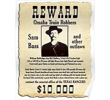 Sam Bass Gang Wanted Poster Poster