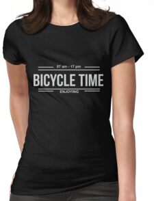 Bicycle Time Womens Fitted T-Shirt