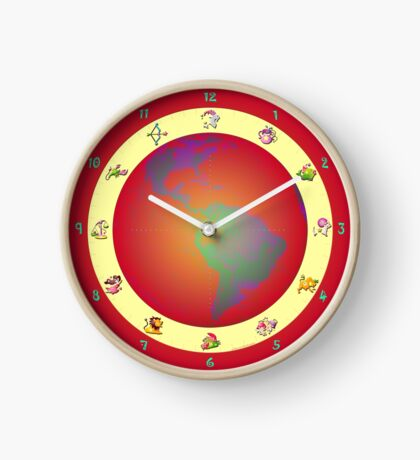 054 Wall Clock watch with astrological signs Clock