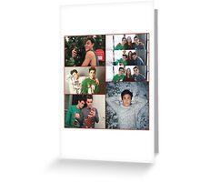 Dolan twins Xmas collage  Greeting Card