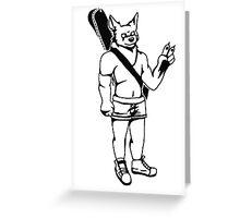 Folk Werewolf Greeting Card