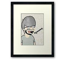 programmer cartoon artist computer design Framed Print