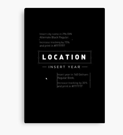 Location/Year Canvas Print