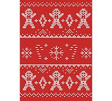 Gingerbread Christmas Sweater Photographic Print