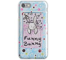 Funny Bunny by Nikki Ellina iPhone Case/Skin