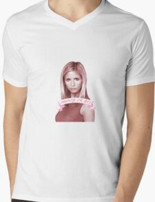 BUFFY OR DIE Mens V-Neck T-Shirt