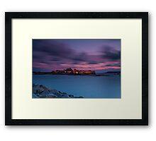 """""""Evening Light, Elizabeth Castle"""" Framed Print"""